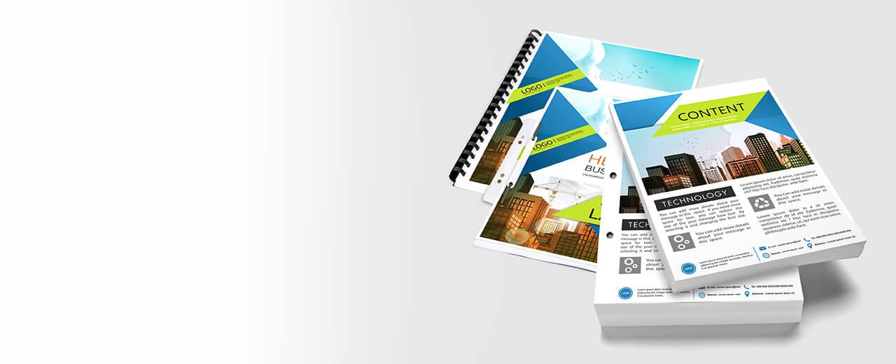 Copy & Print Darstellung von DIN A4 Drucksachen