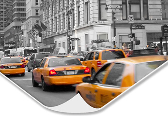 Druck auf Hahnemühle Photo Rag New Yorker Taxis