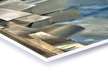 Eine Architekturzeichnung als Direktdruck auf Forex Hartschaumplatte