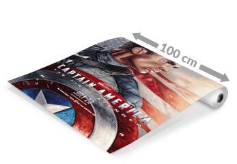 eine Plakatpapier-Rolle mit Kino Plakat