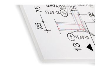 Plandruck mit DIN-Faltung 824-B mit Heftstreifen