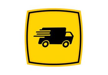 Express-Versand Das Logo eines Paketdienstes