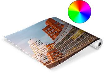 Grafik-Plot Eine Architekturpräsentation auf gerolltem Papier
