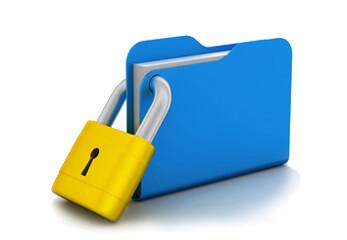 Ein verschlossener digitaler Ordner