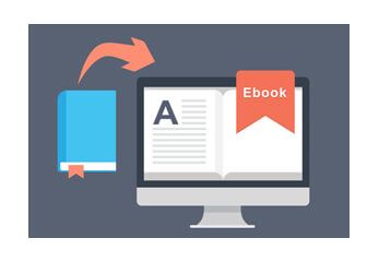 Vom Buch zum e-book als Grafik