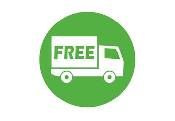 Ein grünes Logo für freie Versandkosten