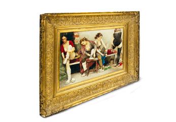 Ein Ölbild im Barock-Rahmen