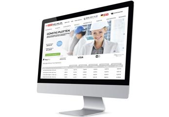 Ein Bildschirm mit einer Online-Bestellplattform
