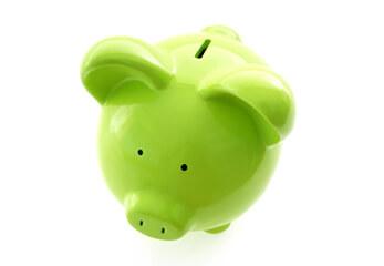 Ein grünes Sparschwein