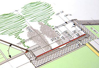 Farbige CAD-Zeichnungen