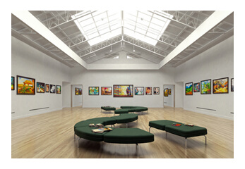 Blick in eine Kunstausstellung
