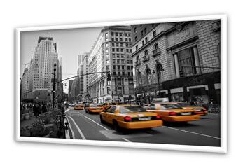 Ein Poster von Taxis in New York